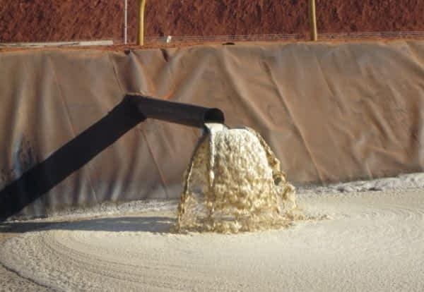 Geomembrana para tratamento de esgoto